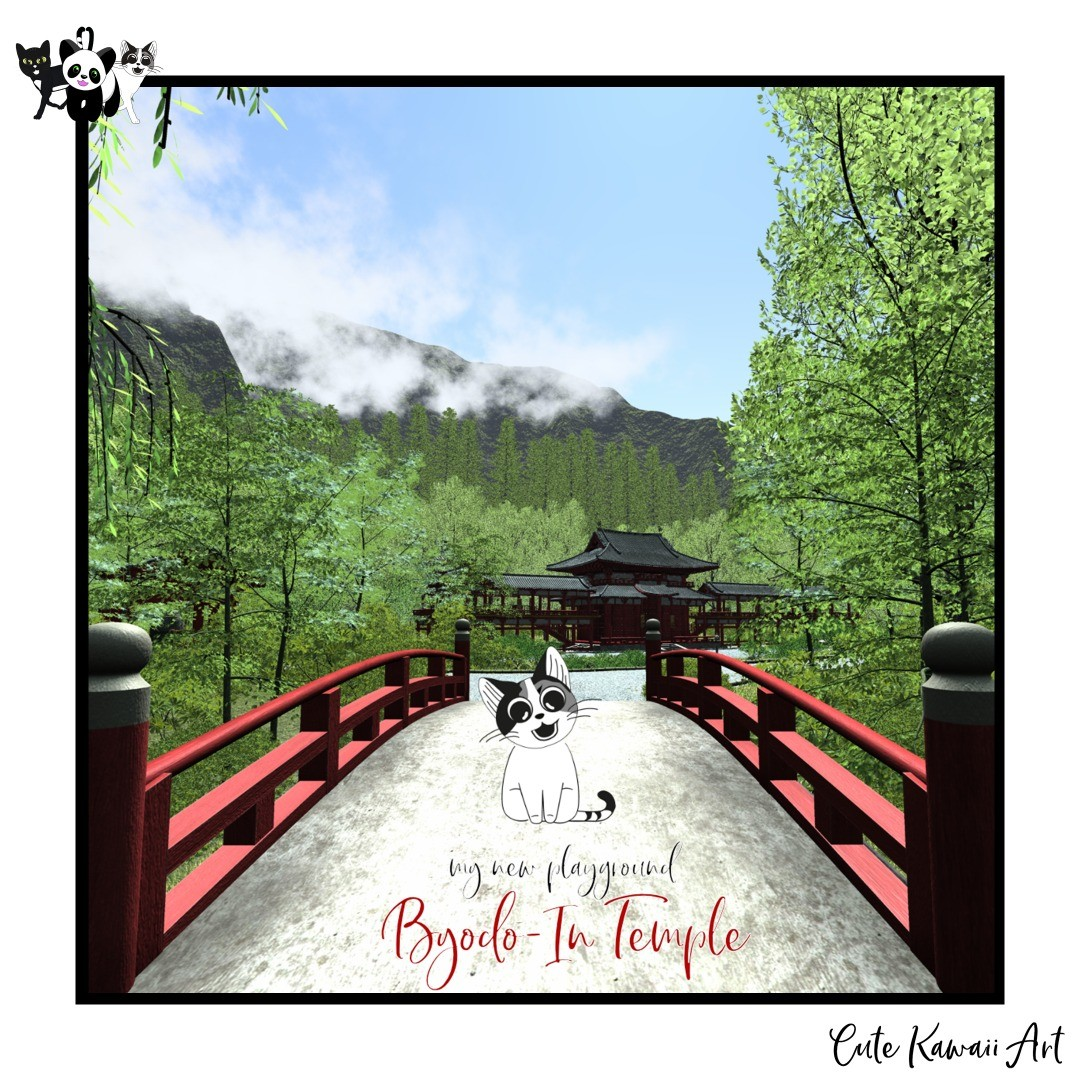 My new playground: Byodo-In Temple on Oahu, Hawaii.   by Cute Kawaii Art