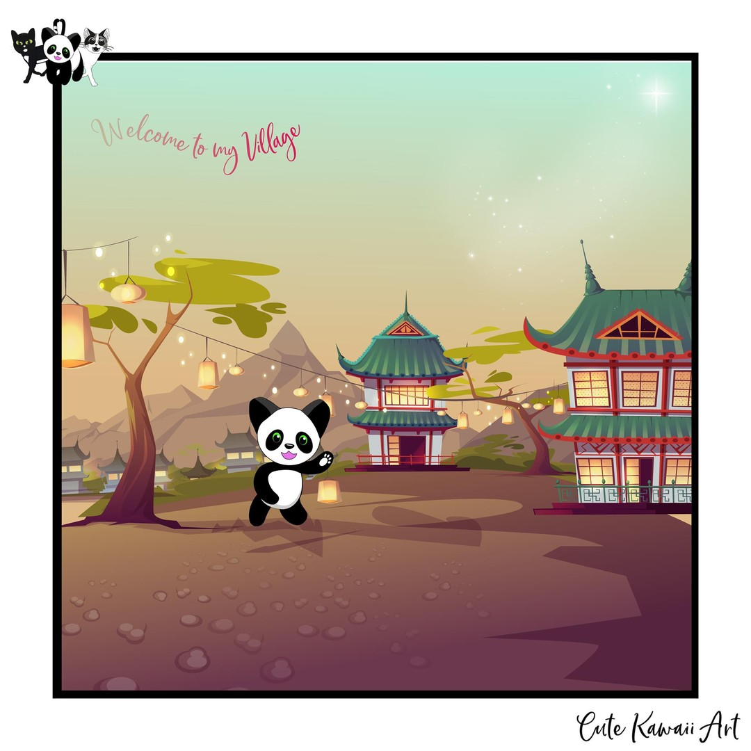 Welcome to my Village.   by Cute Kawaii Art