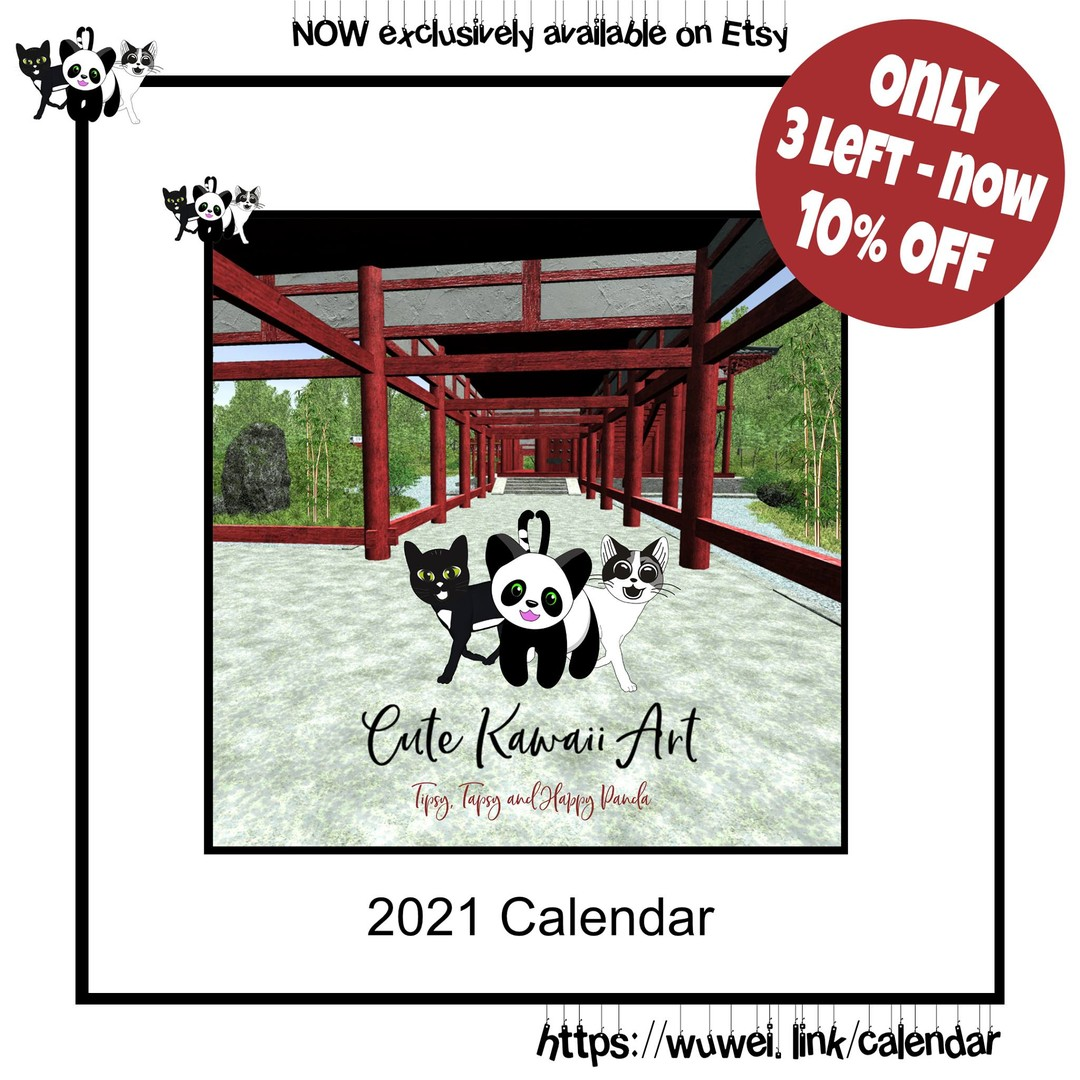LAST 3 calendars available. First come first serve. Now with 10% off.  by Cute Kawaii Art
