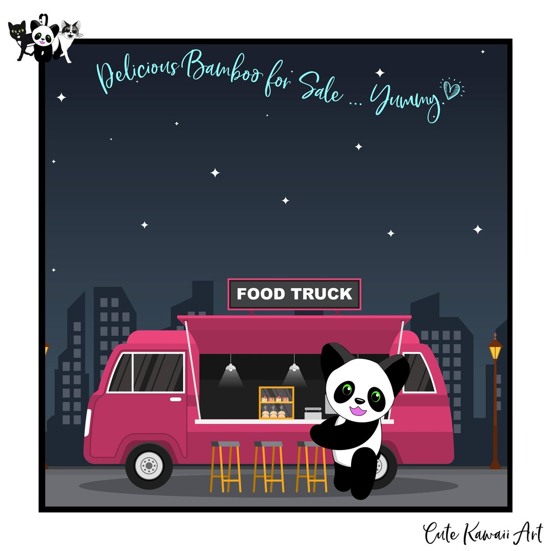 Delicious #bamboo for sale... Yummy!   by Cute Kawaii Art