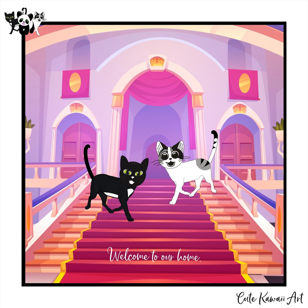 Welcome to our home.  by Cute Kawaii Art