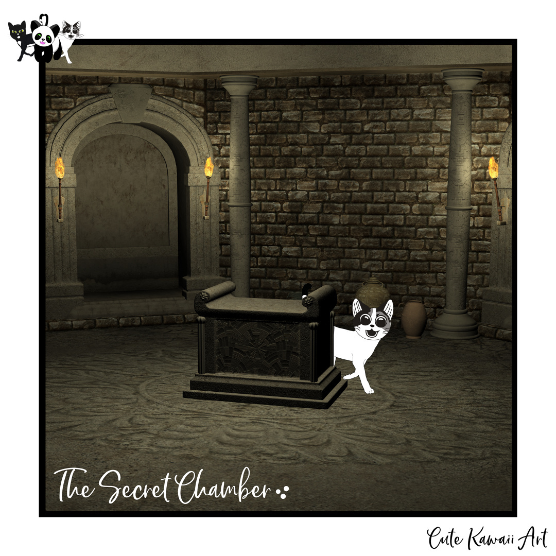 The Secret Chamber 🙀   by Cute Kawaii Art